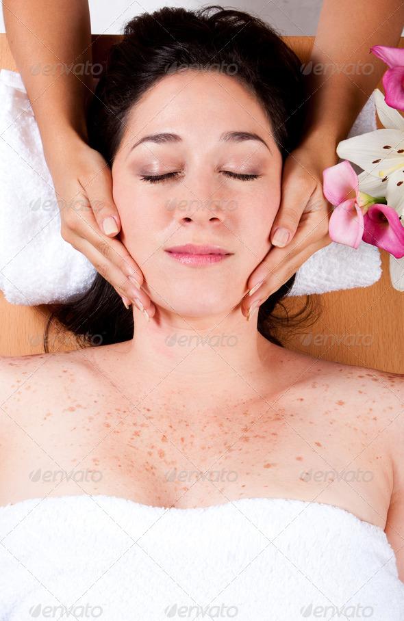 Luxury facial massage - Stock Photo - Images