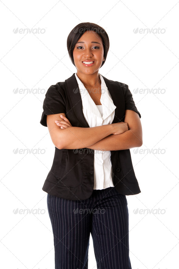 Smiling business woman - Stock Photo - Images