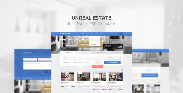 Unreal Estate Psd Template By Hidentica Themeforest