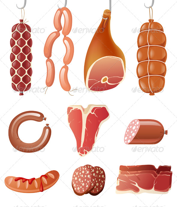 Meat Icons - Food Objects