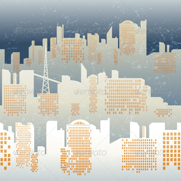 Seamless City Background - Patterns Decorative