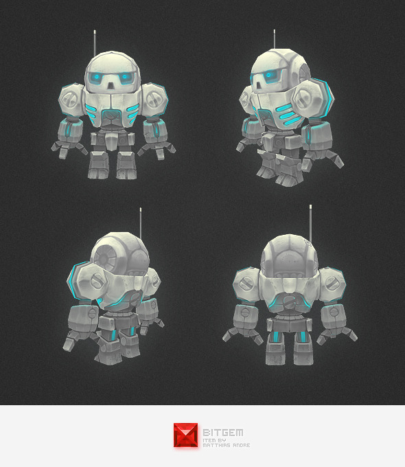 Low Poly Mini Mech - 3DOcean Item for Sale