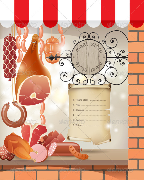 Meat Store - Food Objects