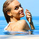 Blond Beauty Spending Time in Swimming Pool - VideoHive Item for Sale