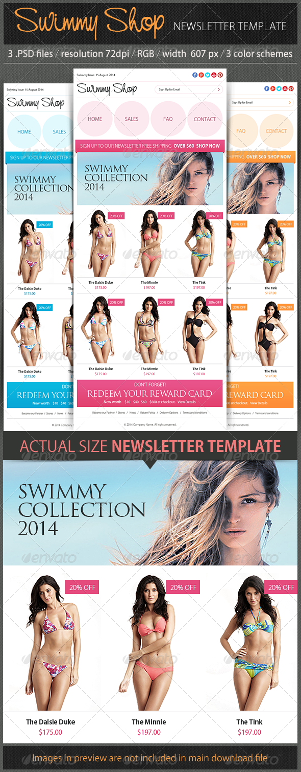 Swimmy Shop Newsletter - E-newsletters Web Elements