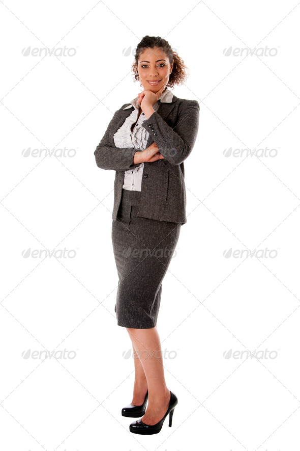 Happy business woman - Stock Photo - Images
