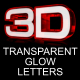 Transparent Glass Glow Letters - GraphicRiver Item for Sale