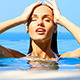 Close Up Portrait of Beautiful Girl in the Pool - VideoHive Item for Sale