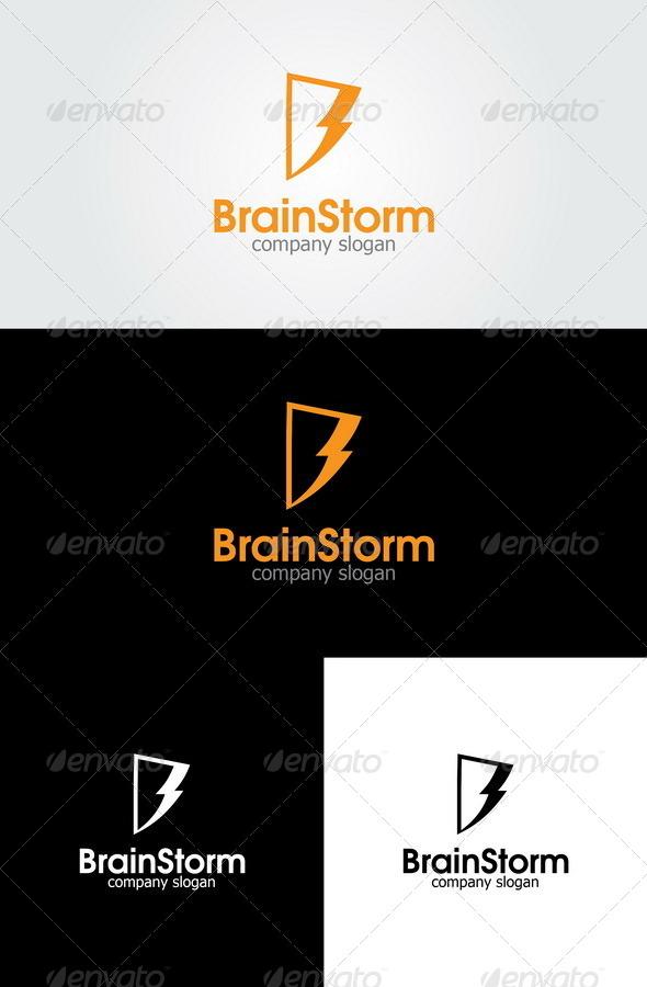 Brain Storm - Letter B Logo - Letters Logo Templates