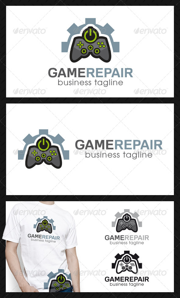Game Repair Center Logo Template - Objects Logo Templates