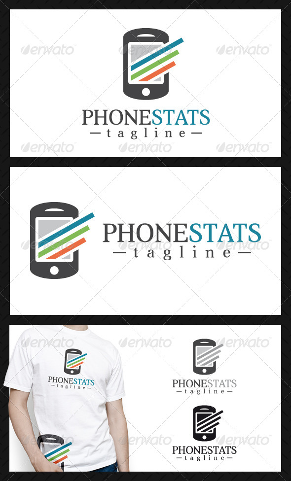 Phone Stats Logo Template - Objects Logo Templates