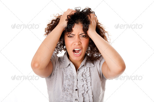 Frustrated business woman - Stock Photo - Images