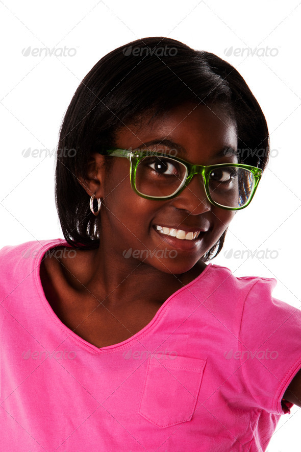 Happy teenager face - Stock Photo - Images
