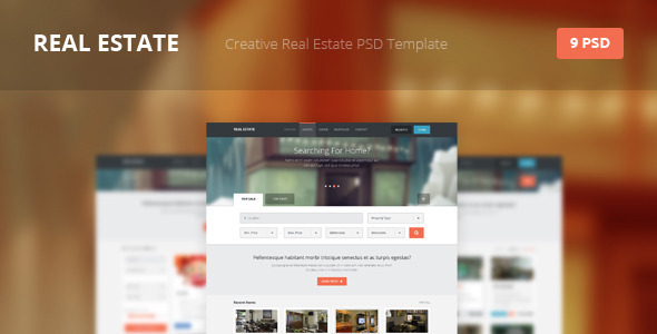 Real Estate – Creative PSD Template