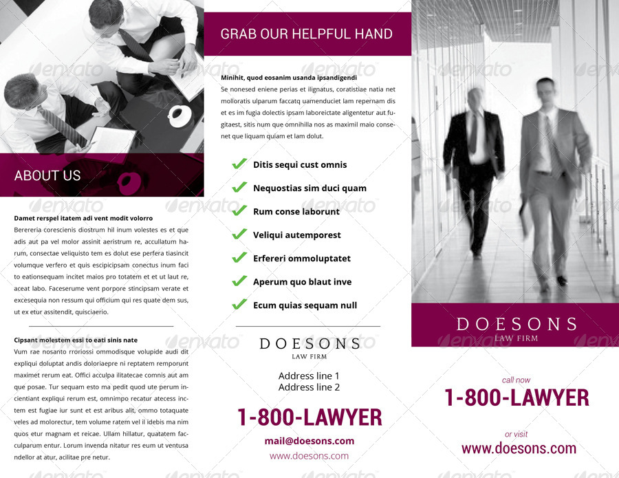 Law Firm TriFold Brochure By Demorfoza  Graphicriver