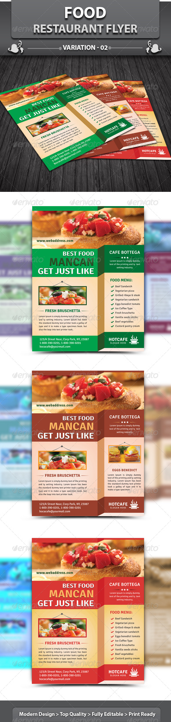 Restaurant Business Flyer | Volume 4 - Restaurant Flyers