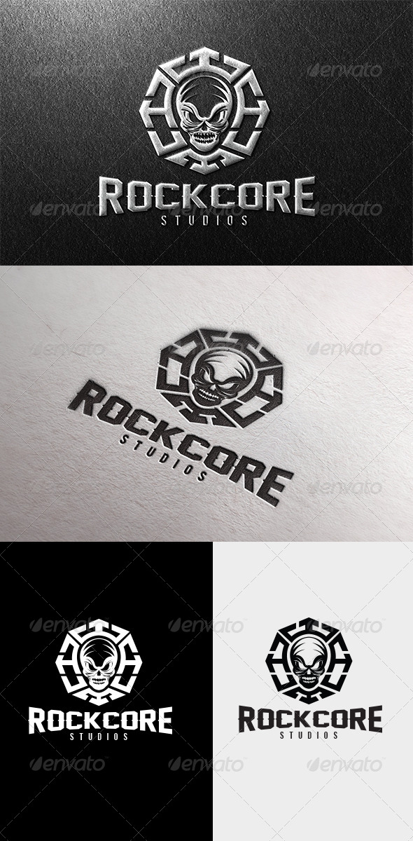 Rock Core Logo - Crests Logo Templates