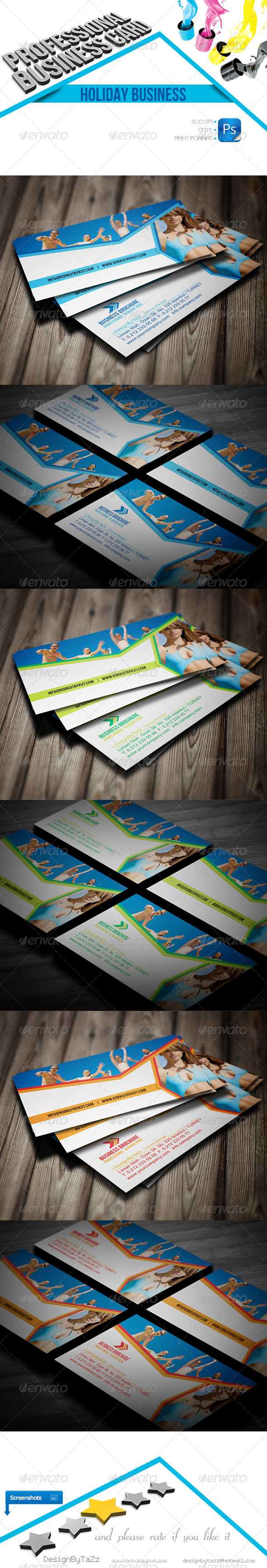 Holiday Business Cards - Business Cards Print Templates
