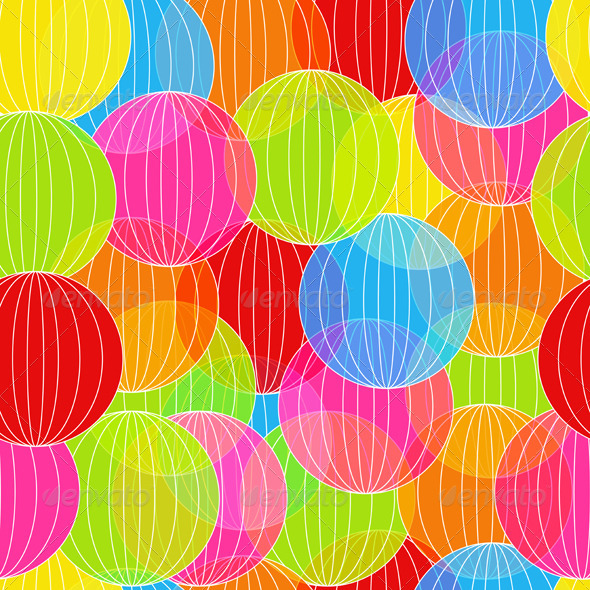 Abstract Colorful Balloon - Patterns Decorative