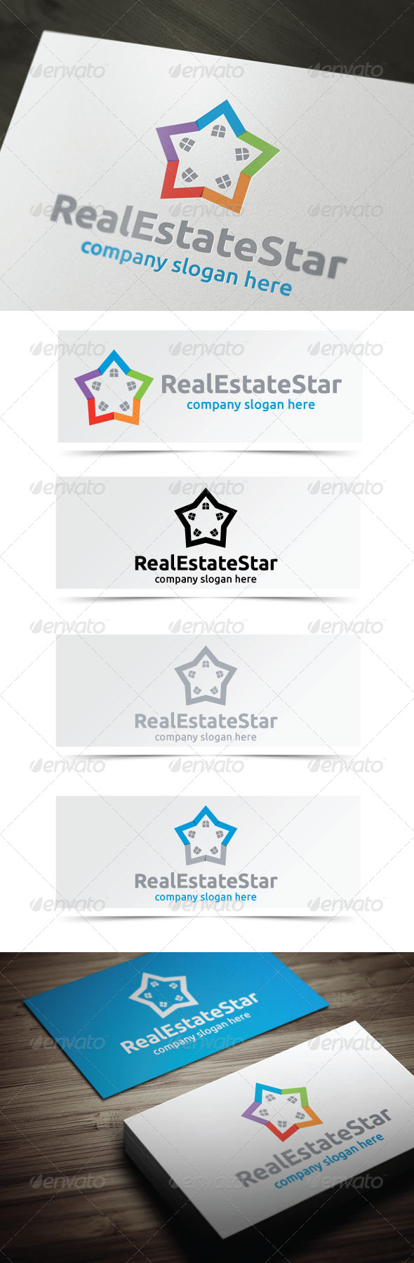 Real Estate Star - Buildings Logo Templates