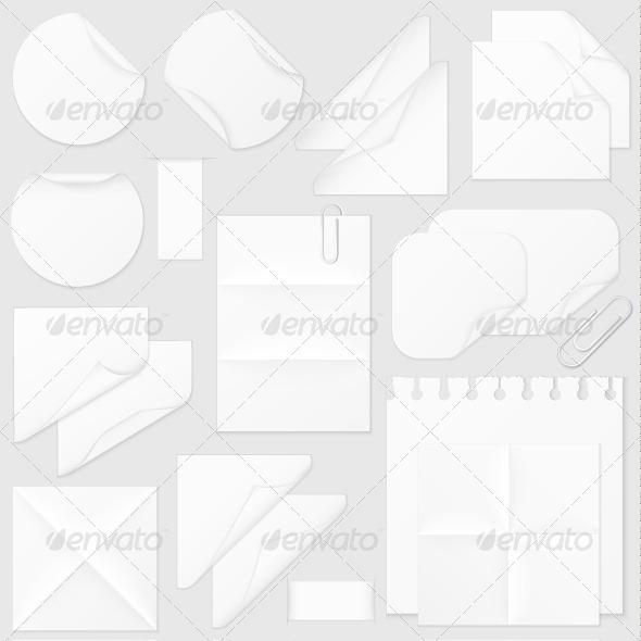Paper Elements Collection - Decorative Vectors