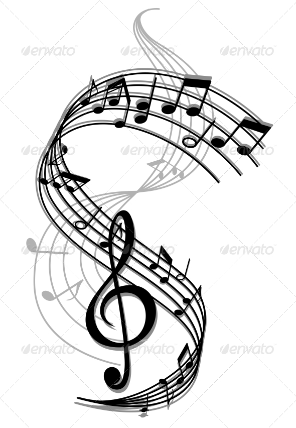 Abstract Art Music Background - Miscellaneous Vectors