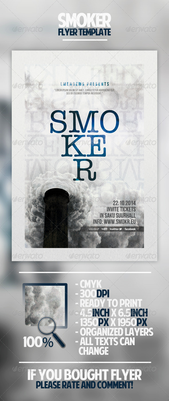 Smoker Flyer Template - Miscellaneous Events