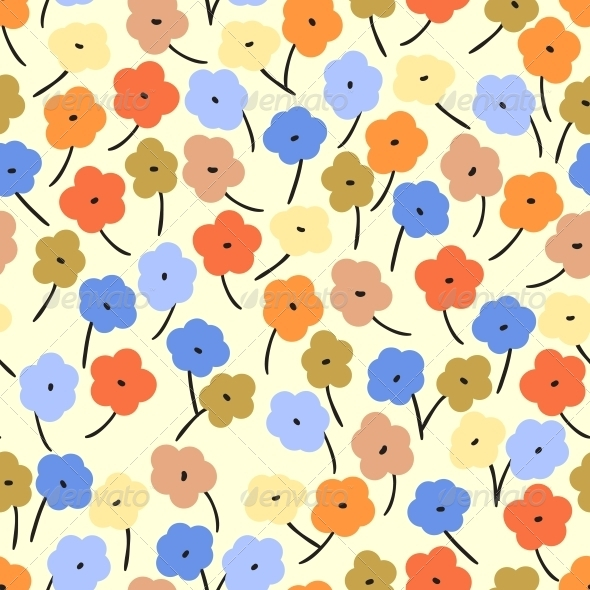 Seamless Pattern with Small Flowers - Patterns Decorative