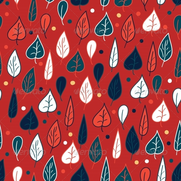 Seamless Pattern with Leaves - Patterns Decorative