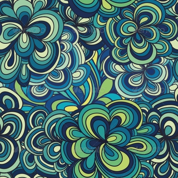 Seamless Abstract Hand-Drawn Pattern - Patterns Decorative