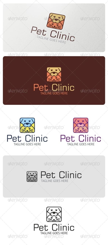 Pet Clinic Logo Template - Animals Logo Templates