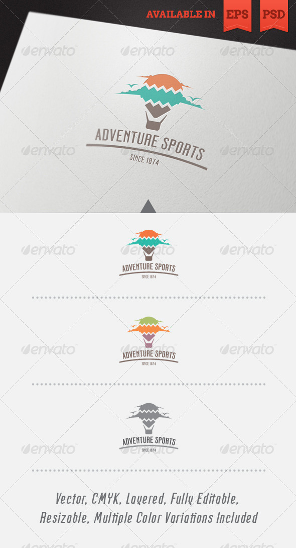 Adventure Sports Logo Template - Objects Logo Templates
