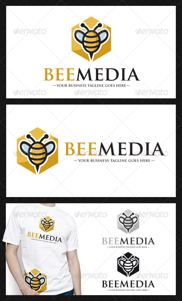 Bee Media Logo Template - Animals Logo Templates