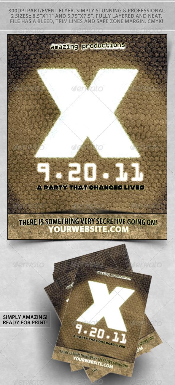 Secret X Nightclub Flyer - Clubs & Parties Events