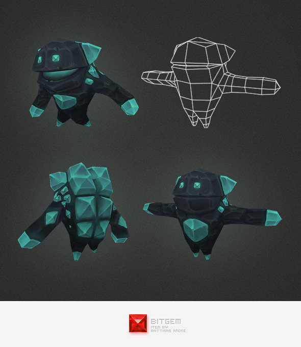 Low Poly Crystal Elemental - 3DOcean Item for Sale