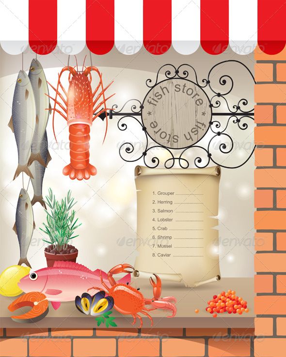 Fish Store - Food Objects