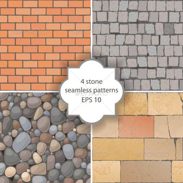 Stone Seamless Patterns - Patterns Decorative