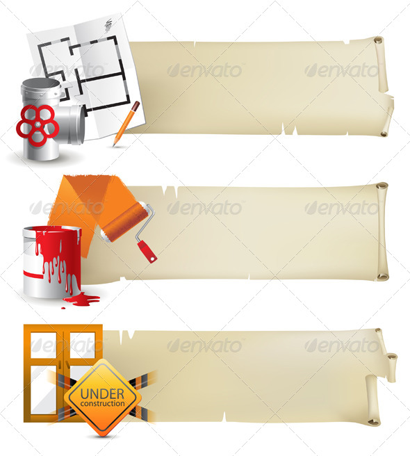 Repair Banners - Miscellaneous Vectors