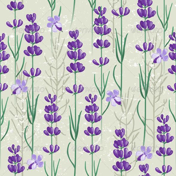 Lavender Seamless Ornament - Patterns Decorative