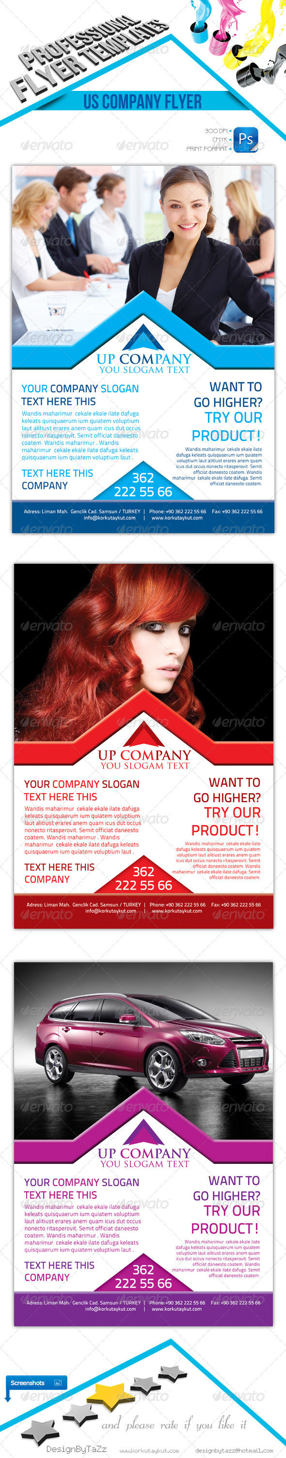 Us Company Flyer Template - Corporate Flyers