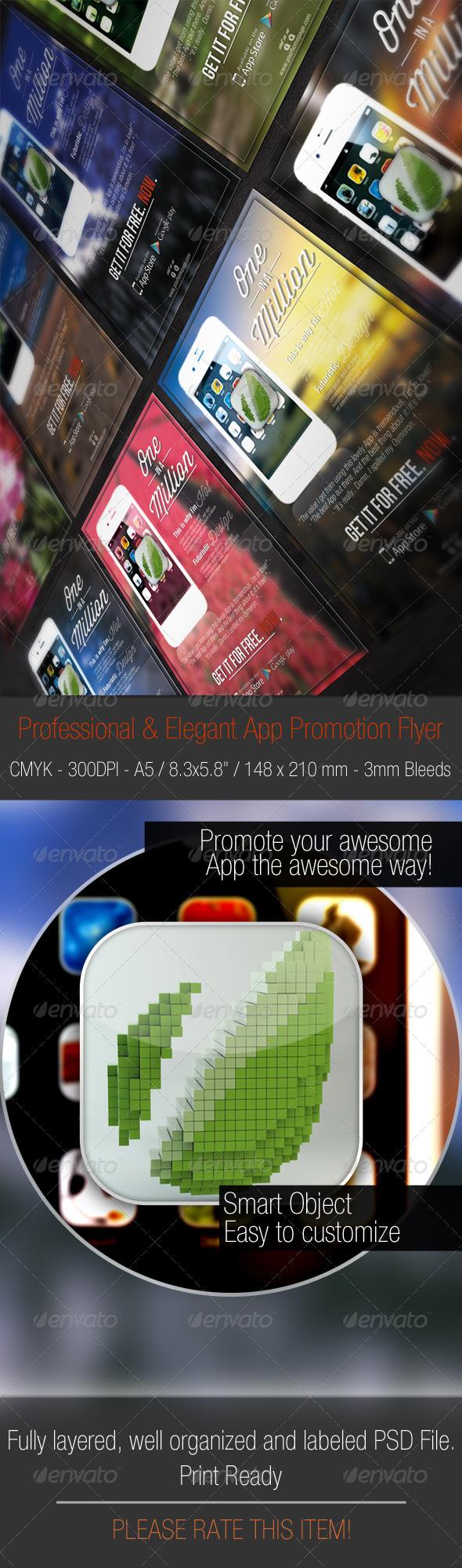 Elegant & Modern Promotion A5 Flyer  - Flyers Print Templates