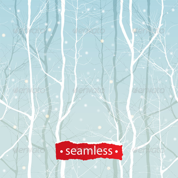 Trees Seamless - Patterns Decorative
