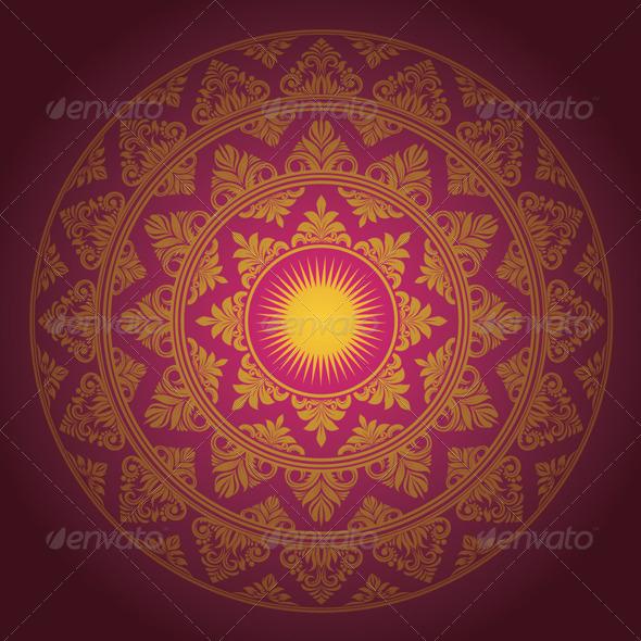 Circle Ornament Decorative - Borders Decorative