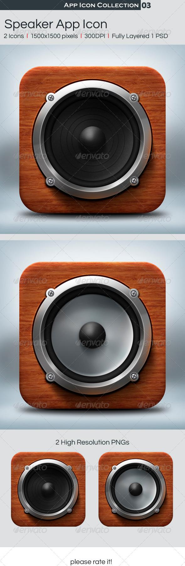 Speaker App Icon - Icons