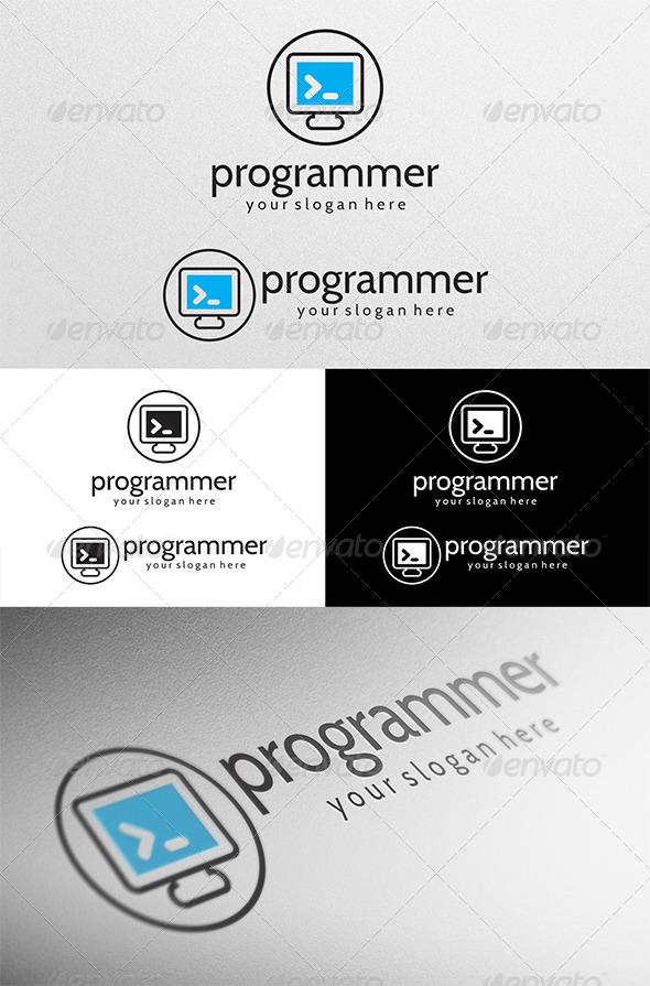 programmer logo by lincerta graphicriver programmer logo