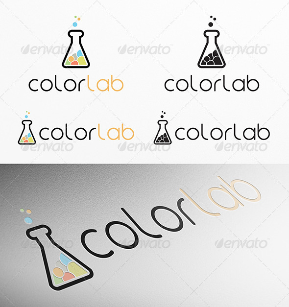 Color Lab Logo - Logo Templates