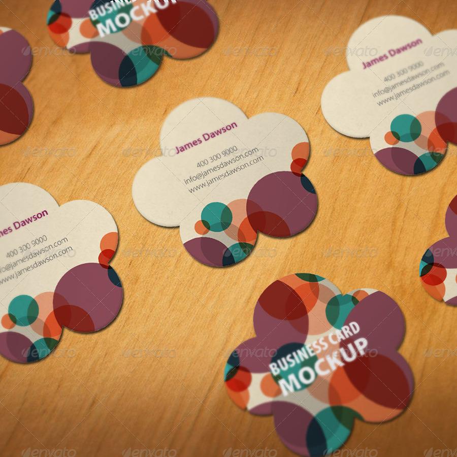 Die cut business card mock ups by bellacharming graphicriver die cut business card mock ups reheart Gallery