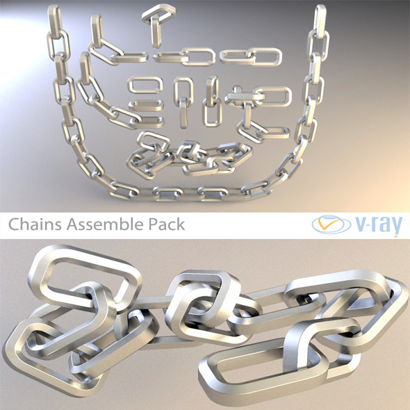 Chain Assemble Pack - 3DOcean Item for Sale
