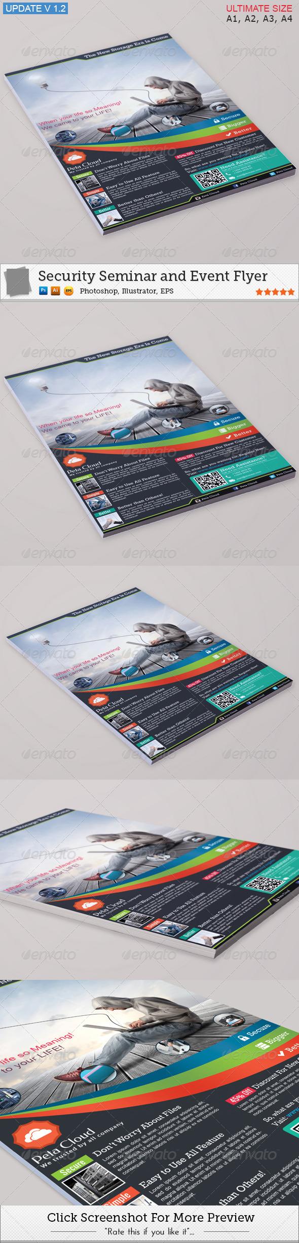 Peta Cloud Service Flyer - Corporate Flyers
