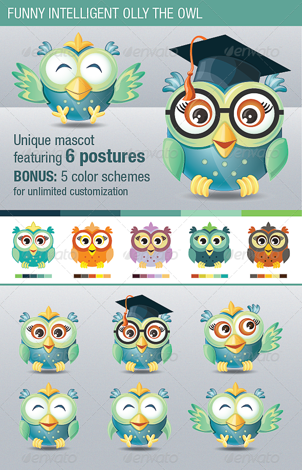 Funny Intelligent Olly the Owl - Animals Characters